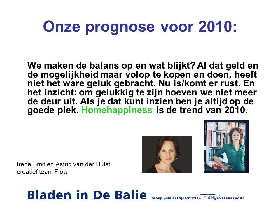 Onze prognose voor 2010: We maken de balans op en wat blijkt? Al dat geld en de mogelijkheid maar volop te kopen en doen, heeft niet het ware geluk ge