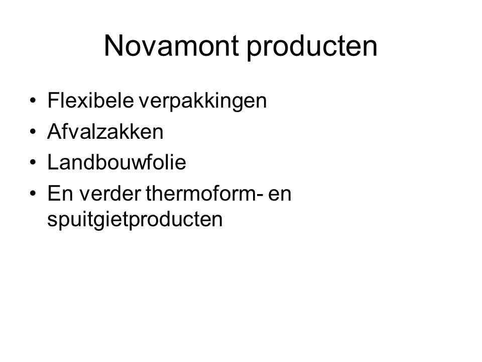 Novamont producten •Flexibele verpakkingen •Afvalzakken •Landbouwfolie •En verder thermoform- en spuitgietproducten