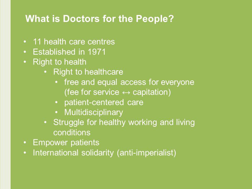 Inleiding Geneeskunde voor, door en van het volk DEEL 1: Gezondheidszorg is een basisrecht, en mag geen koopwaar zijn DEEL 2: Gezondheid, kwestie van maatschappelijk onrecht bestrijden DEEL 3: Geneeskunde voor het Volk: De dagelijkse praktijk anno 2012