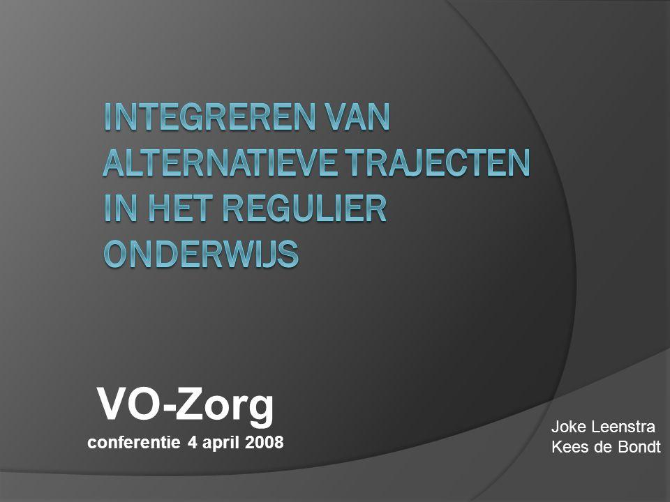VO-Zorg conferentie 4 april 2008 Joke Leenstra Kees de Bondt
