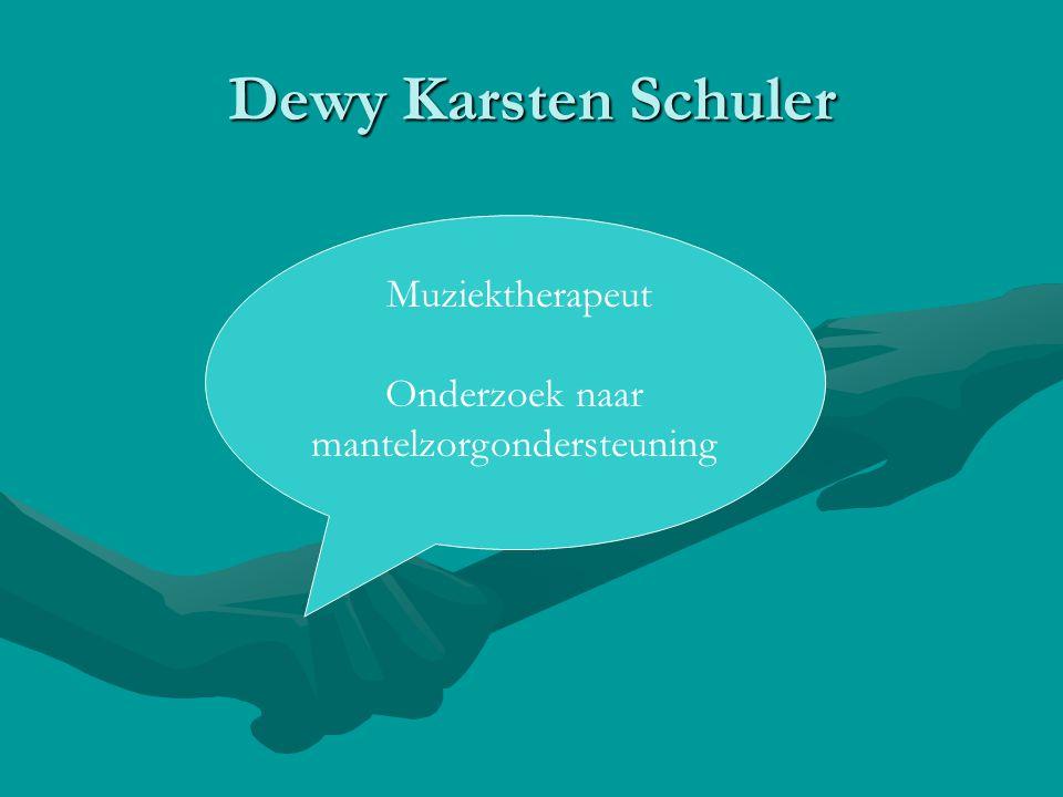 Dewy Karsten Schuler Muziektherapeut Onderzoek naar mantelzorgondersteuning