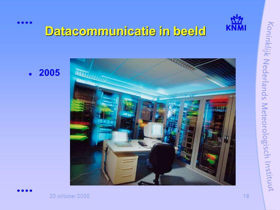20 oktober 200518 Datacommunicatie in beeld  2005