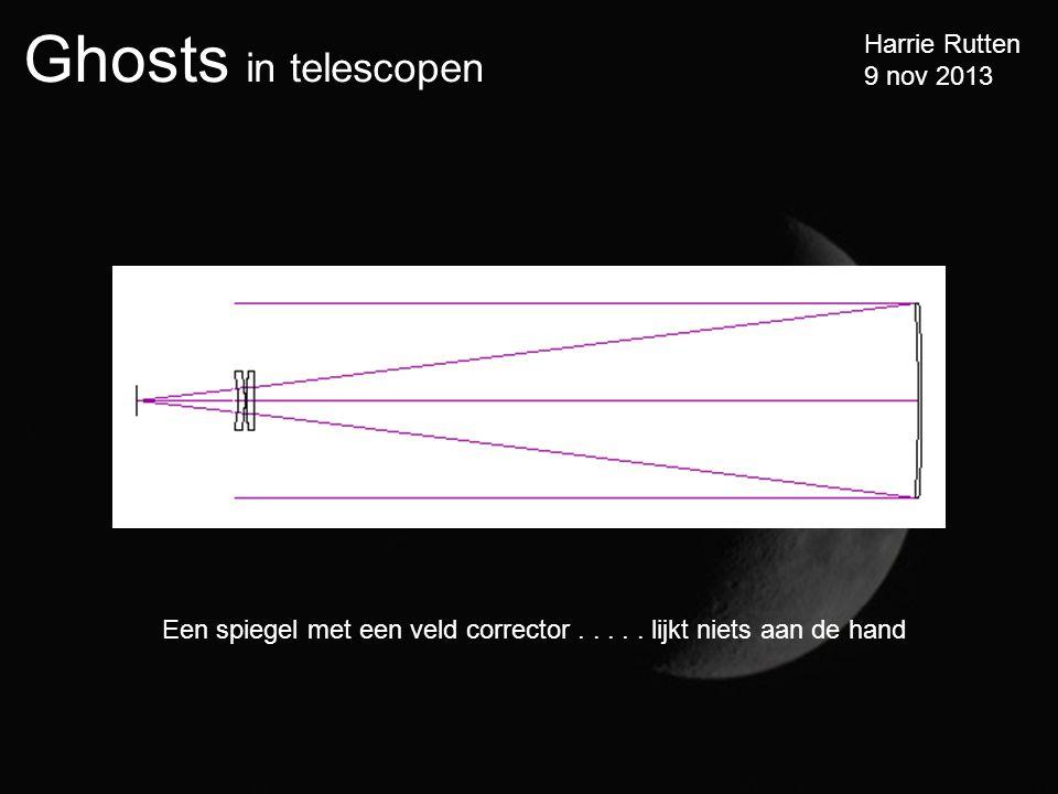Ghosts in telescopen Harrie Rutten 9 nov 2013 Een spiegel met een veld corrector.....