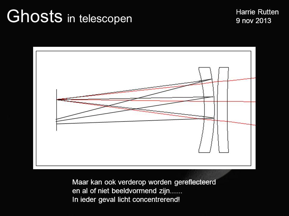 Ghosts in telescopen Harrie Rutten 9 nov 2013 Maar kan ook verderop worden gereflecteerd en al of niet beeldvormend zijn......