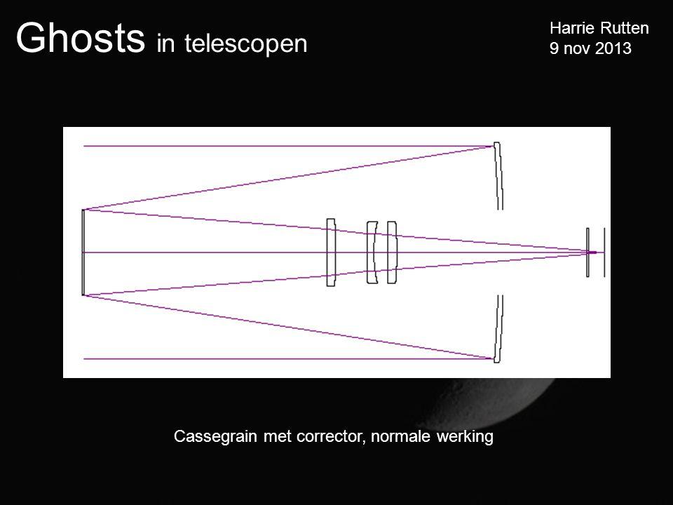 Ghosts in telescopen Harrie Rutten 9 nov 2013 Cassegrain met corrector, normale werking