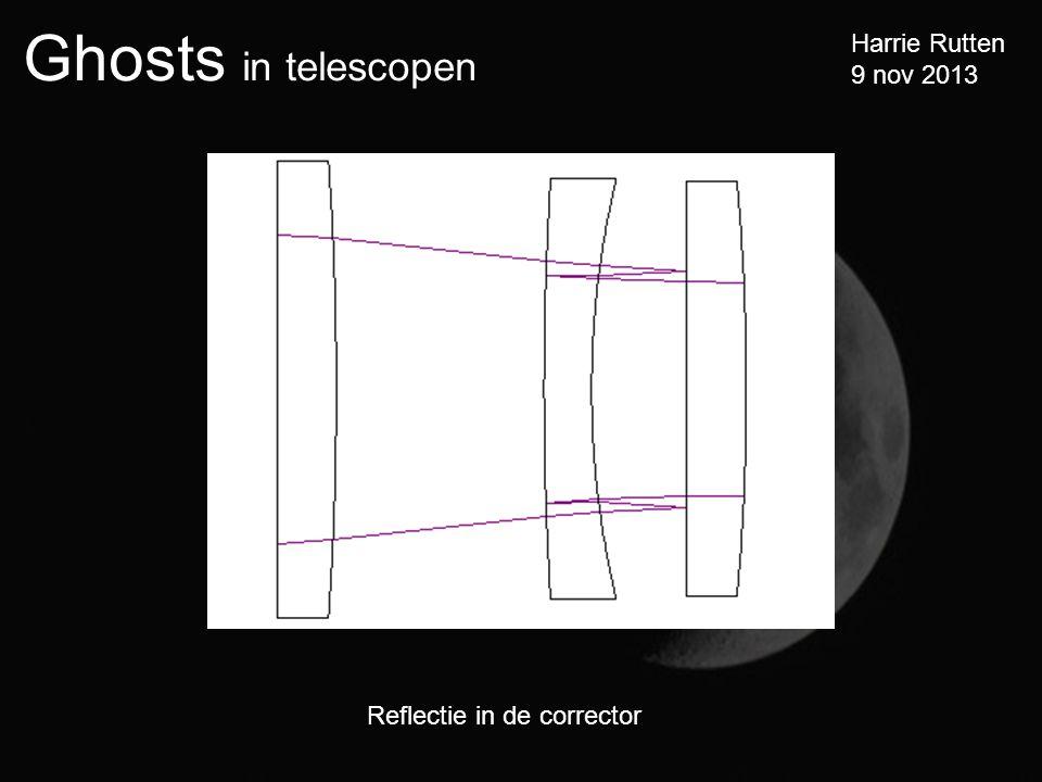 Ghosts in telescopen Harrie Rutten 9 nov 2013 Reflectie in de corrector