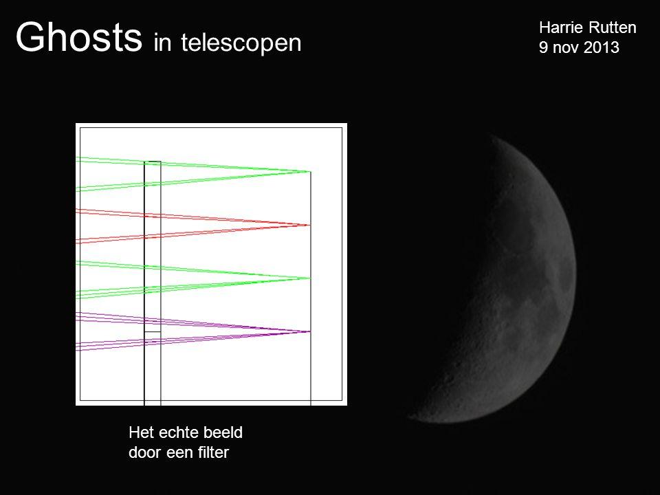 Ghosts in telescopen Harrie Rutten 9 nov 2013 Het echte beeld door een filter