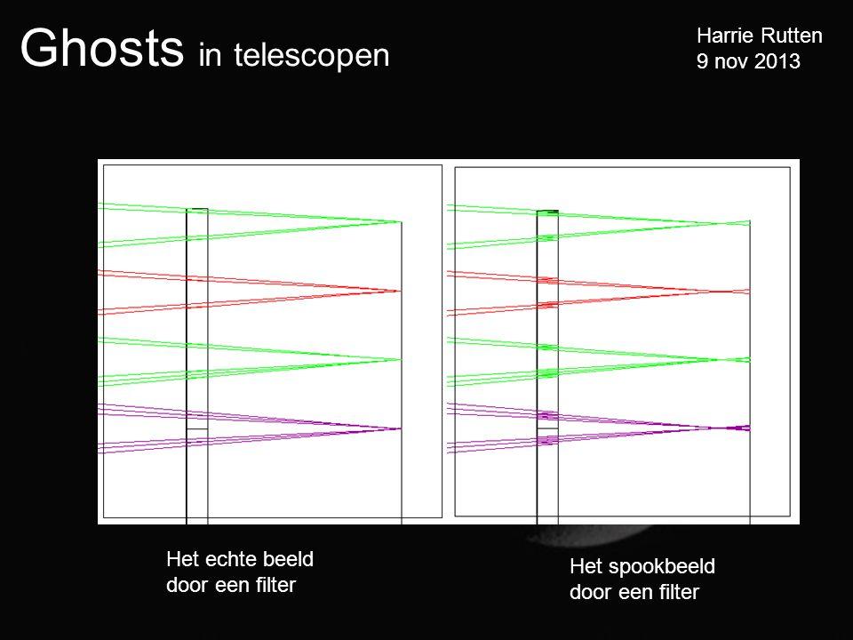 Ghosts in telescopen Harrie Rutten 9 nov 2013 Het echte beeld door een filter Het spookbeeld door een filter