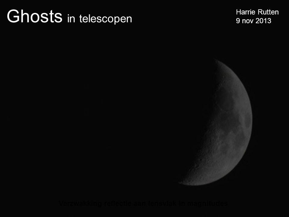 Ghosts in telescopen Harrie Rutten 9 nov 2013 Verzwakking reflectie aan lensvlak in magnitudes