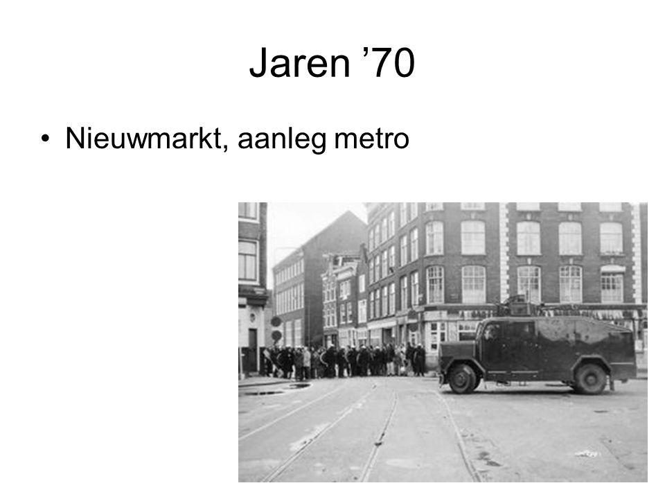 Jaren '80 •Kroningsrellen •Vondelstraat •Verzet met geweld •Harde confrontaties met politie •'Jullie rechtsorde is de onze niet'