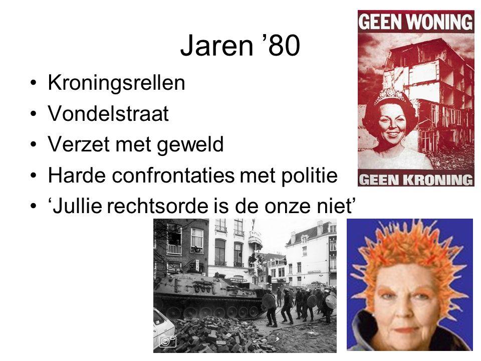 Kraken vroeger •Woningnood onder studenten, maar ook voor veel gewone Amsterdammers •Omvangrijk: 20.000 krakers begin '80 •Marxisme op de UvA, communes, 'proletarisch winkelen' •Parallelle samenleving •Ervaring met geweld; knokploeg en politie •Brede sympathie
