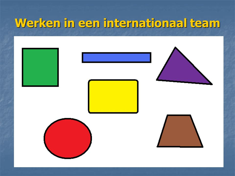 Werken in een internationaal team