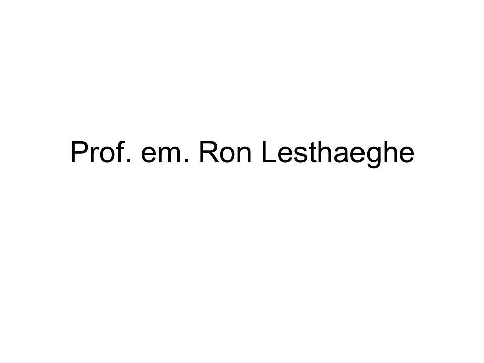 Prof. em. Ron Lesthaeghe