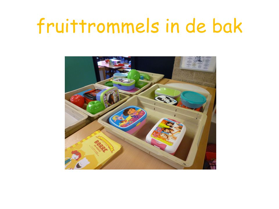 fruittrommels in de bak