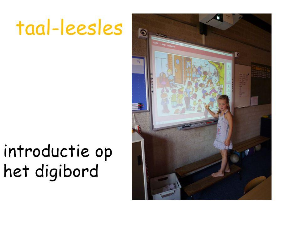 taal-leesles introductie op het digibord