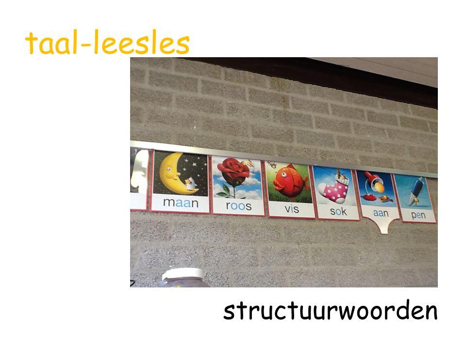 taal-leesles structuurwoorden