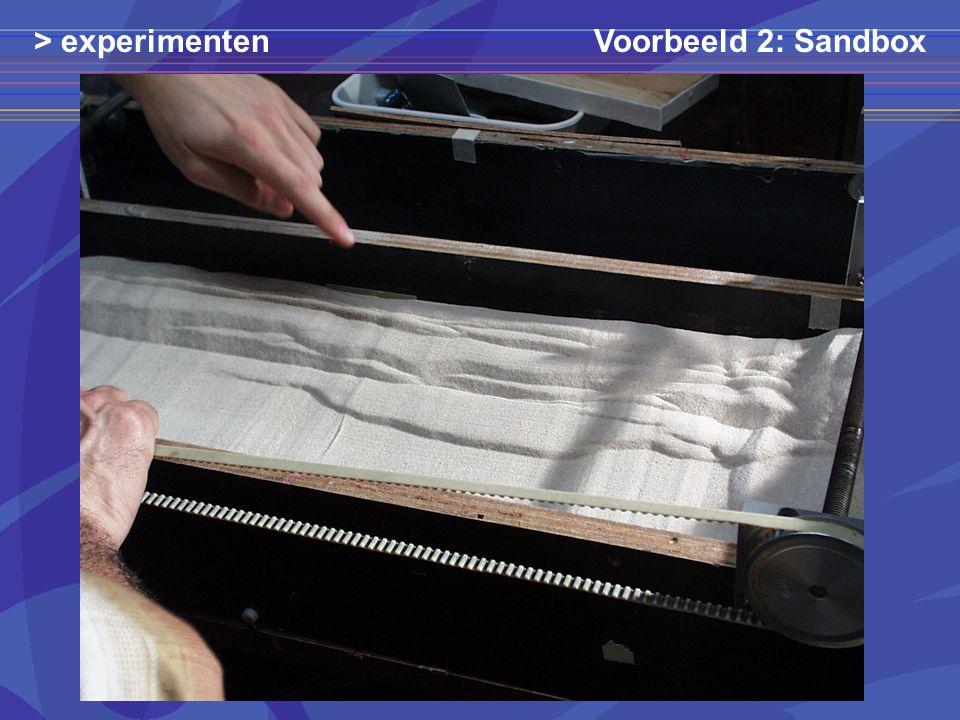 Voorbeeld 2: Sandbox> experimenten