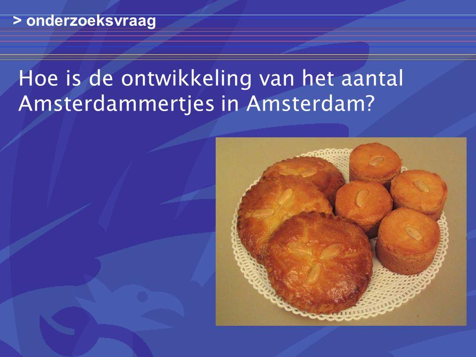 Hoe is de ontwikkeling van het aantal Amsterdammertjes in Amsterdam? > onderzoeksvraag