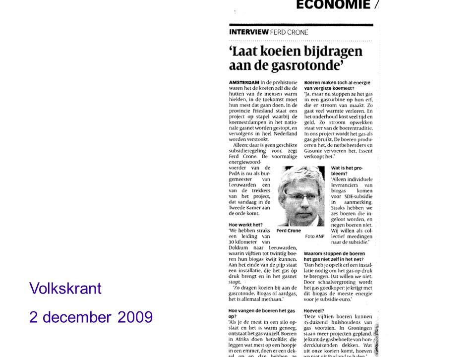 Volkskrant 2 december 2009