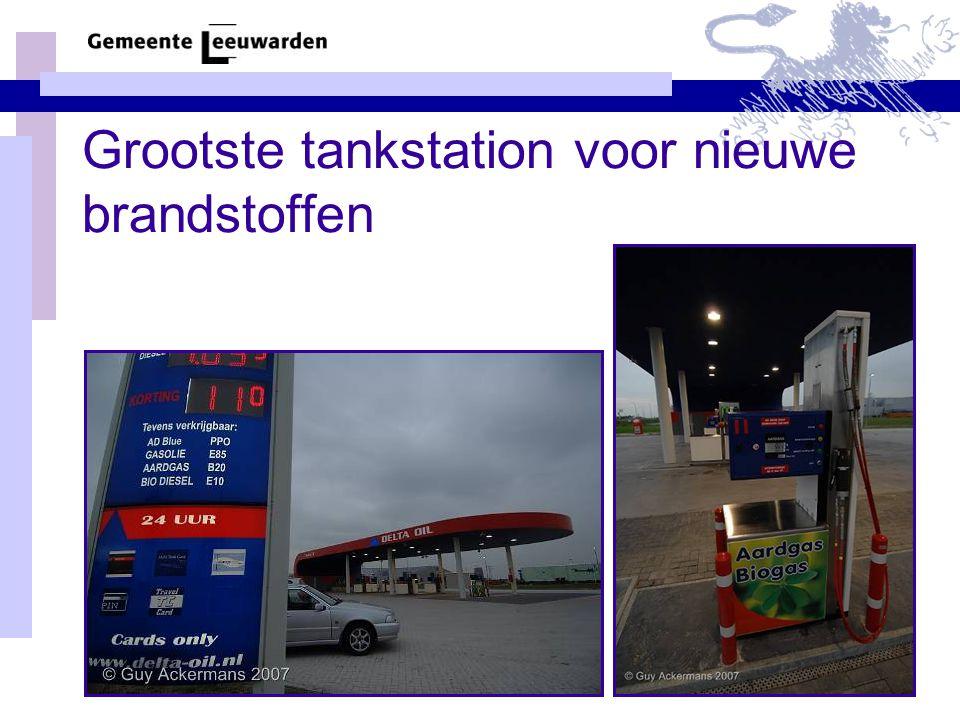 Grootste tankstation voor nieuwe brandstoffen