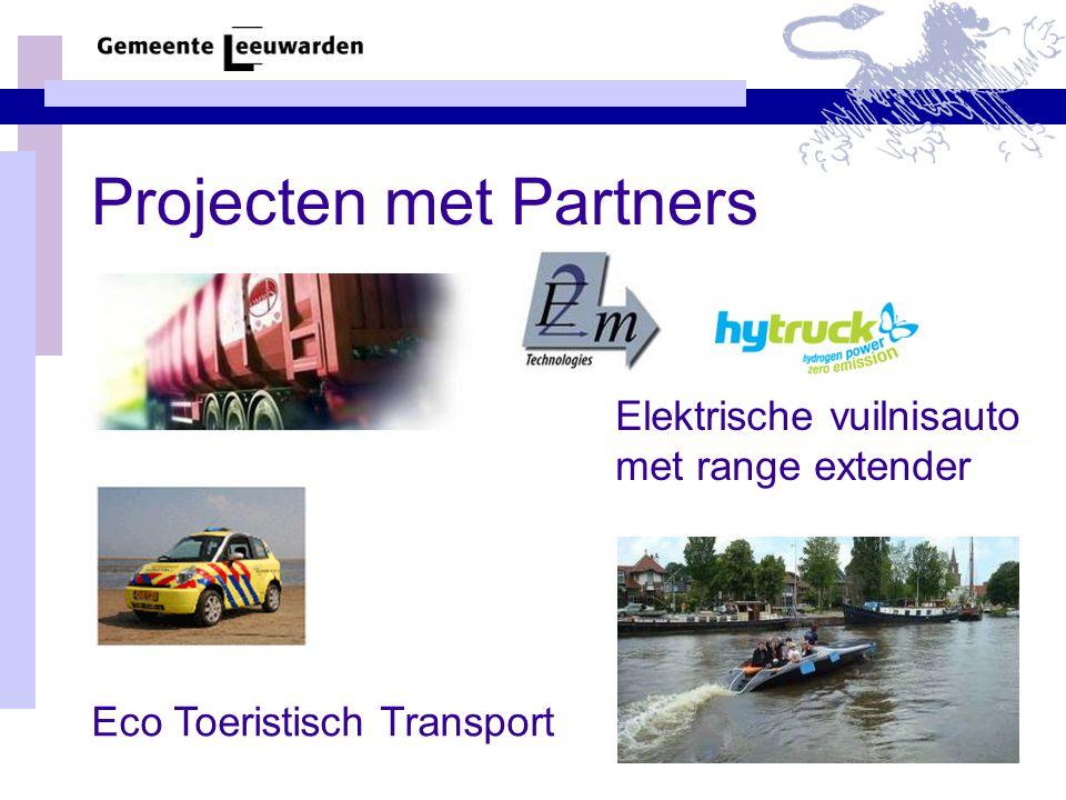 Projecten met Partners Eco Toeristisch Transport Elektrische vuilnisauto met range extender