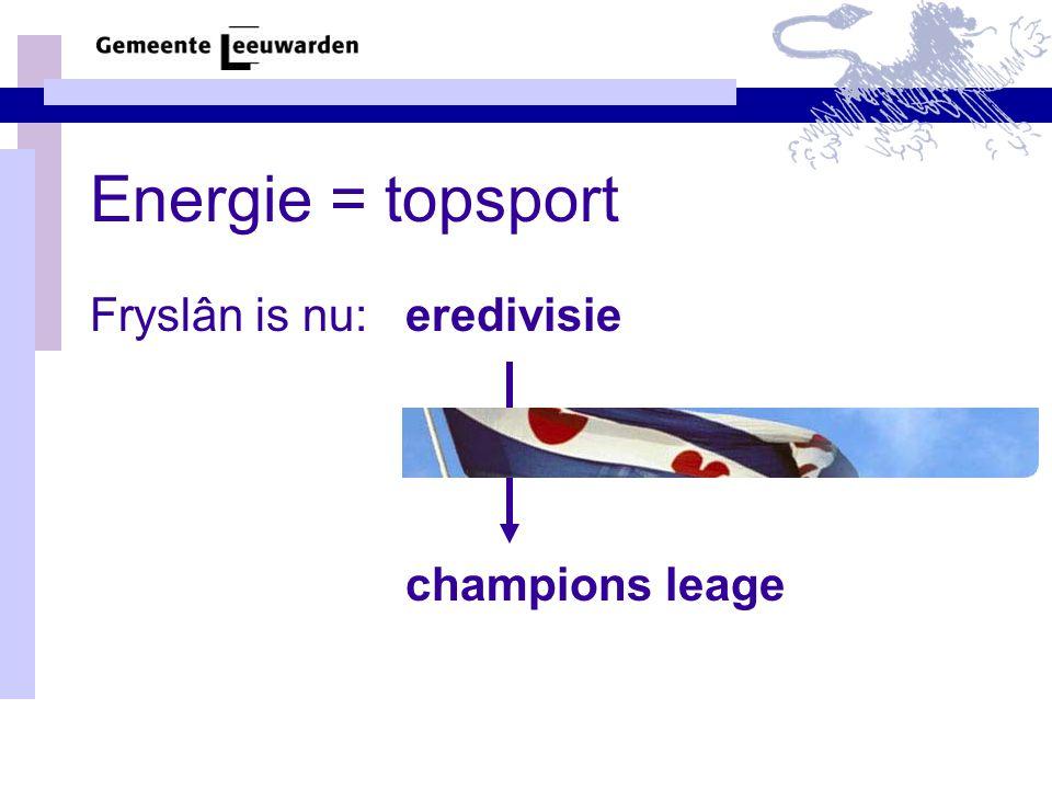 Energie = topsport Fryslân is nu:eredivisie champions leage