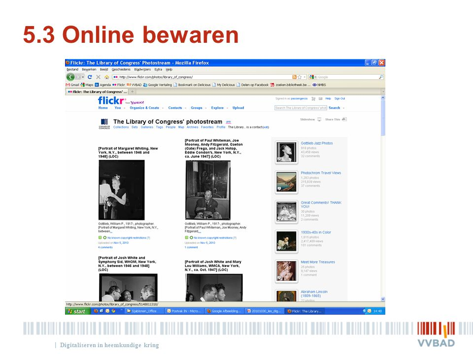 | 5.3 Online bewaren Digitaliseren in heemkundige kring