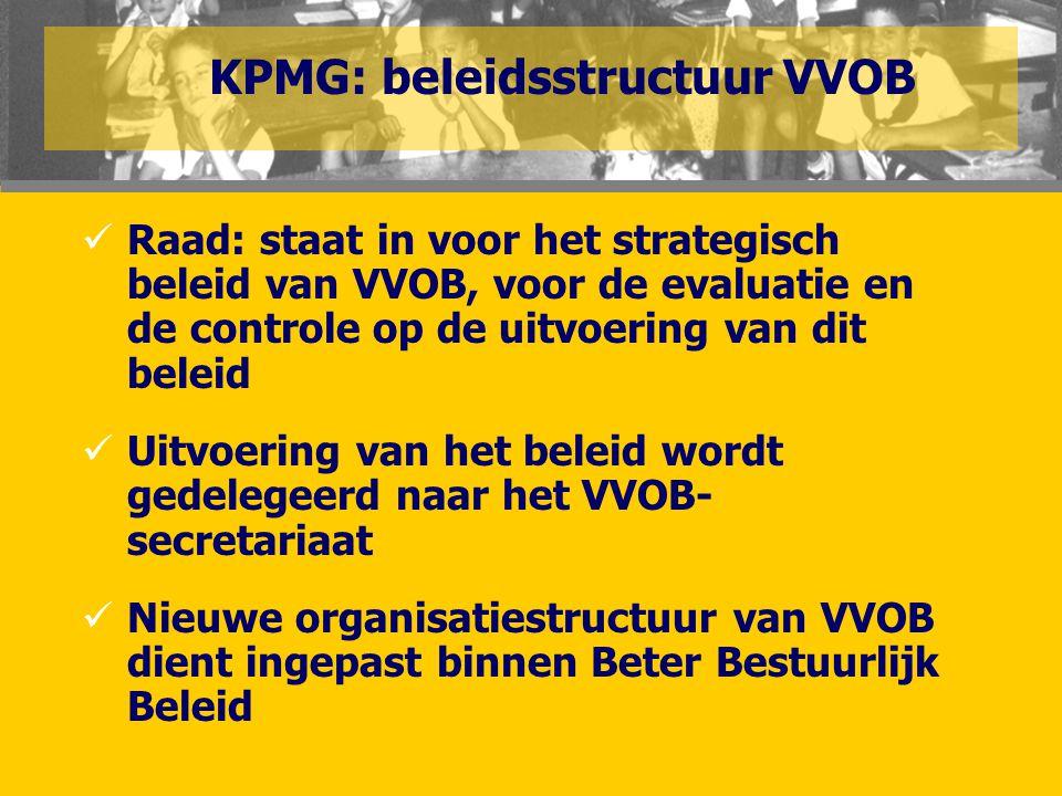  Raad: staat in voor het strategisch beleid van VVOB, voor de evaluatie en de controle op de uitvoering van dit beleid  Uitvoering van het beleid wo