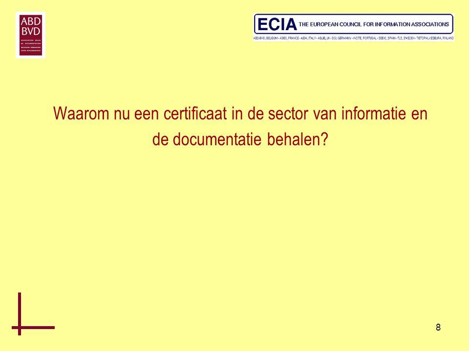 29 De Euroberoepscompetenties worden onderverdeeld 5 domeinen (technische competenties): •informatie(Groep I = 12) •technologie(Groep T = 5) •communicatie(Groep C = 7) •management(Groep M = 8) •supplementaire bekwaamheden(Groep S = 1) In totaal 33 verschillende competenties die verschillen naargelang het niveau en verdeeld in 5 groepen