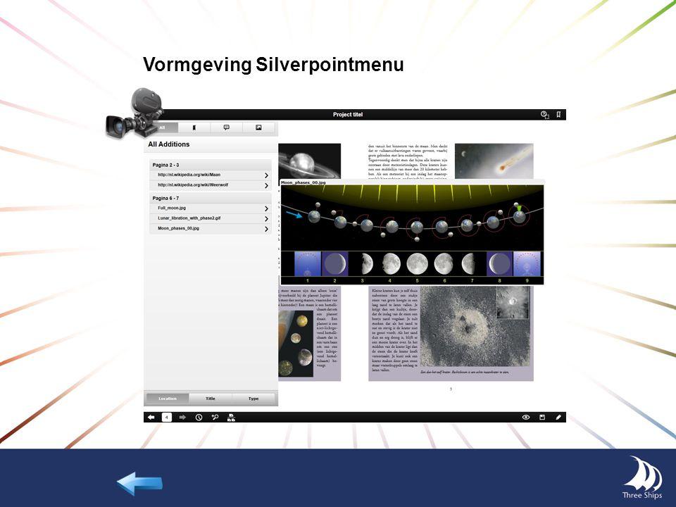 Nieuw Silverpoint menu Het Silverpoint menu heeft een nieuw uiterlijk gekregen en biedt ook nieuwe mogelijkheden: Schakelen tussen weergave - 1 pagina