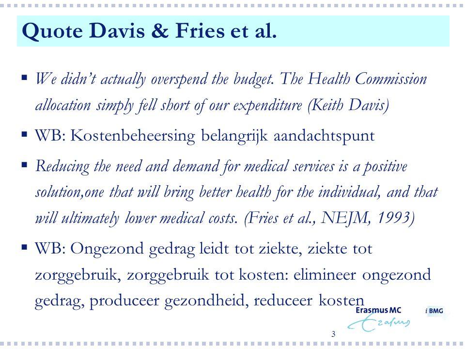2  The first wealth is health (R.W. Emerson)  Speerpunten voor gezondheidszorgbeleid van VWS zijn: onnodige sterfte en vermijdbaar gezondheidsverlie