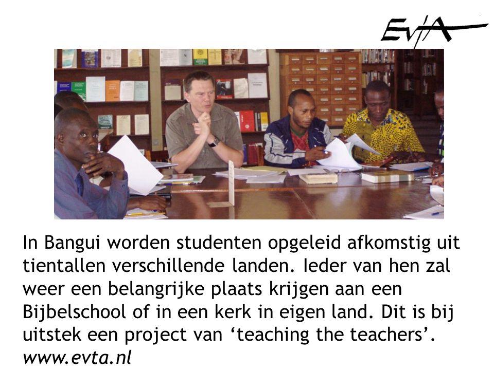 In Bangui worden studenten opgeleid afkomstig uit tientallen verschillende landen.