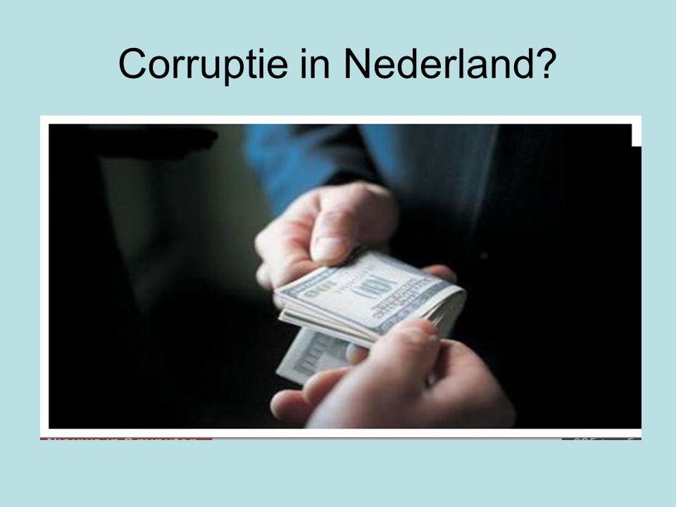Corruptie in Nederland?