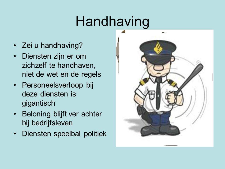 Handhaving •Zei u handhaving.