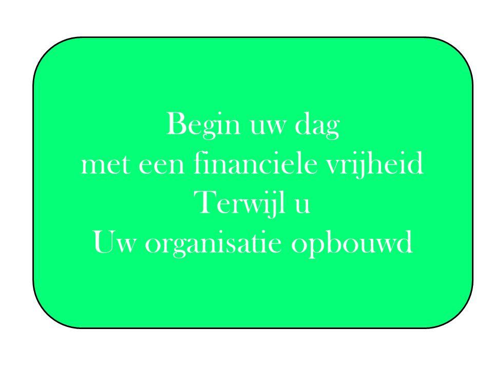 Begin uw dag met een financiele vrijheid Terwijl u Uw organisatie opbouwd