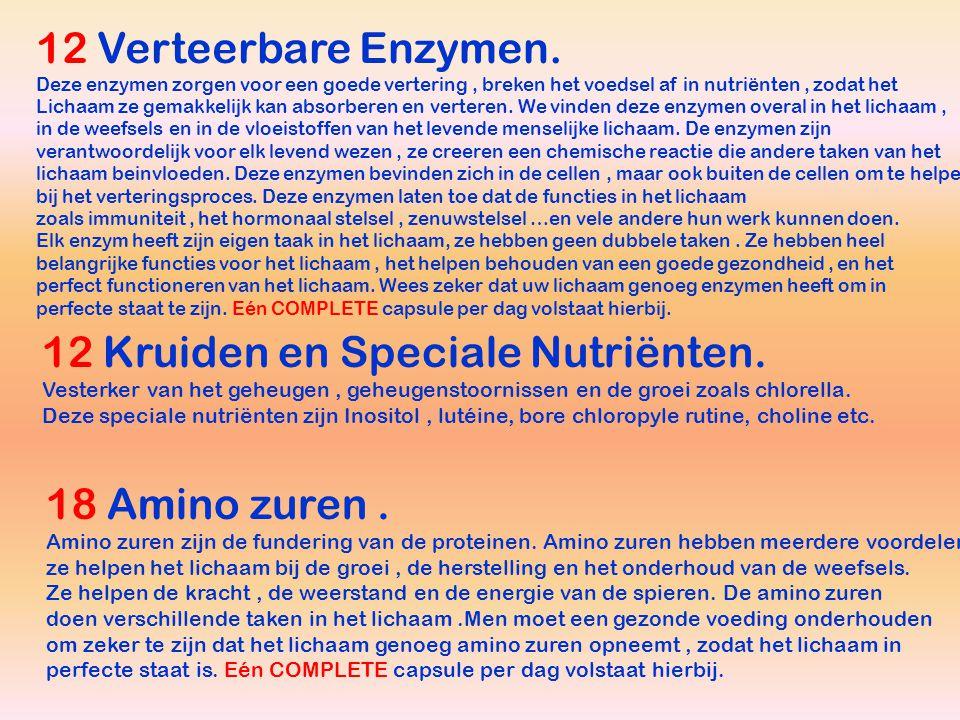 12 Verteerbare Enzymen.