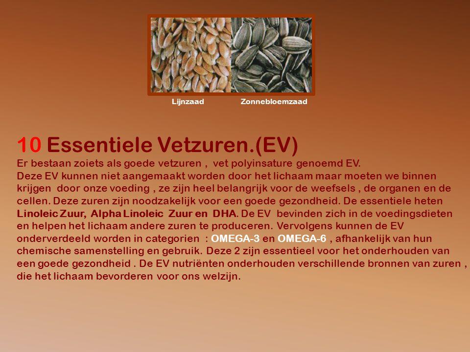 LijnzaadZonnebloemzaad 10 Essentiele Vetzuren.(EV) Er bestaan zoiets als goede vetzuren, vet polyinsature genoemd EV.