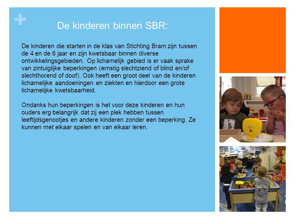 + De kinderen binnen SBR: De kinderen die starten in de klas van Stichting Bram zijn tussen de 4 en de 6 jaar en zijn kwetsbaar binnen diverse ontwikk
