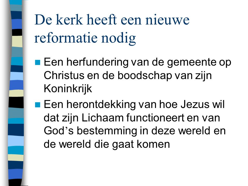 Voorbeelden  Kleine groepen / gemeenten in huizen, scholen, universiteiten, kantoren, caf é s  Incarnatie in ' stamverbanden ' (rainbow people, buitensporters, Apple-freaks)  Nieuwe evangelisatiemethoden (storytelling, servant evangelism, tarot, tabernakel-evangelisatie, podcasting)