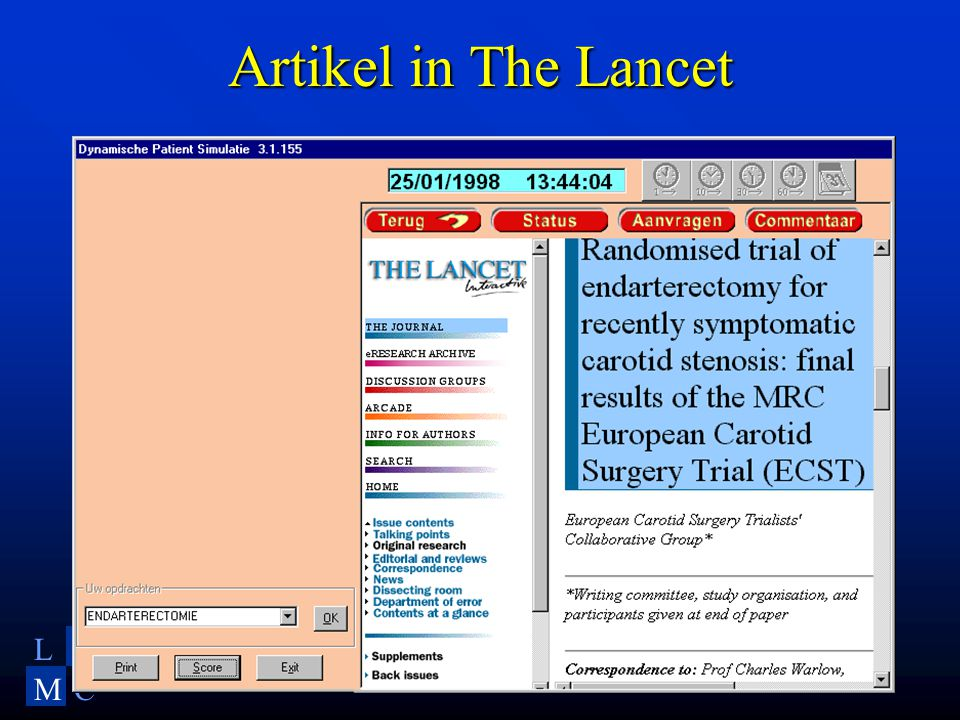 LU MC Artikel in The Lancet