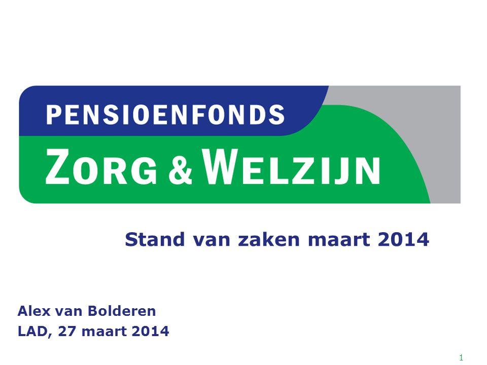1 Stand van zaken maart 2014 Alex van Bolderen LAD, 27 maart 2014