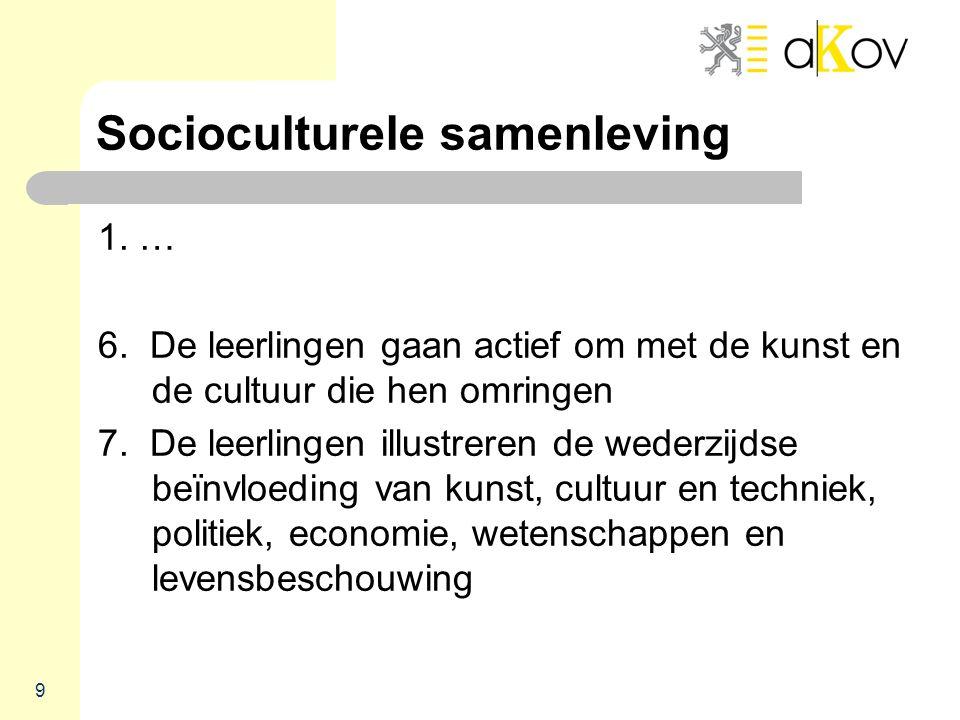 Socioculturele samenleving 1. … 6.