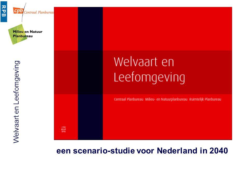 Welvaart en Leefomgeving Inhoud presentatie  achtergrond en opzet studie  uitgangspunten demografie en economie  wonen, werken en mobiliteit; afname druk.