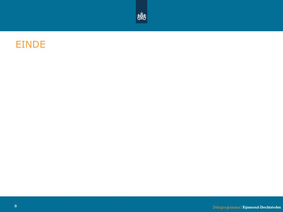 EINDE Deltaprogramma l Rijnmond-Drechtsteden 8