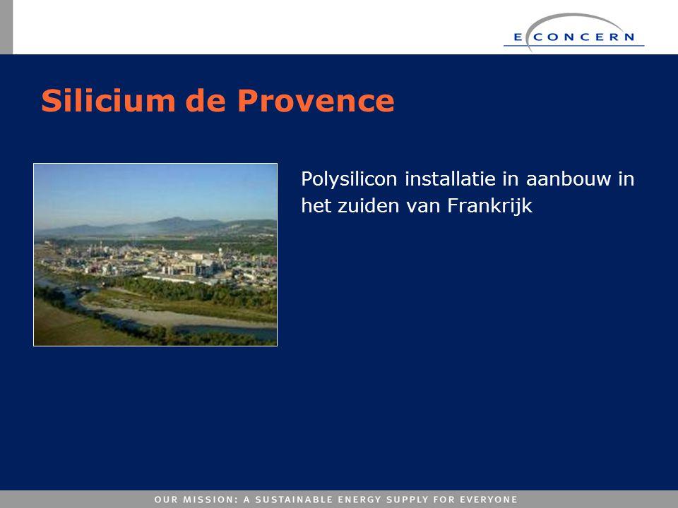 Silicium de Provence Polysilicon installatie in aanbouw in het zuiden van Frankrijk
