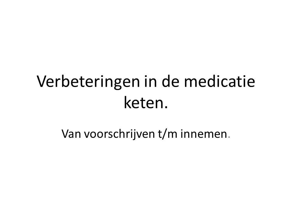 Verbeteringen in de medicatie keten. Van voorschrijven t/m innemen.