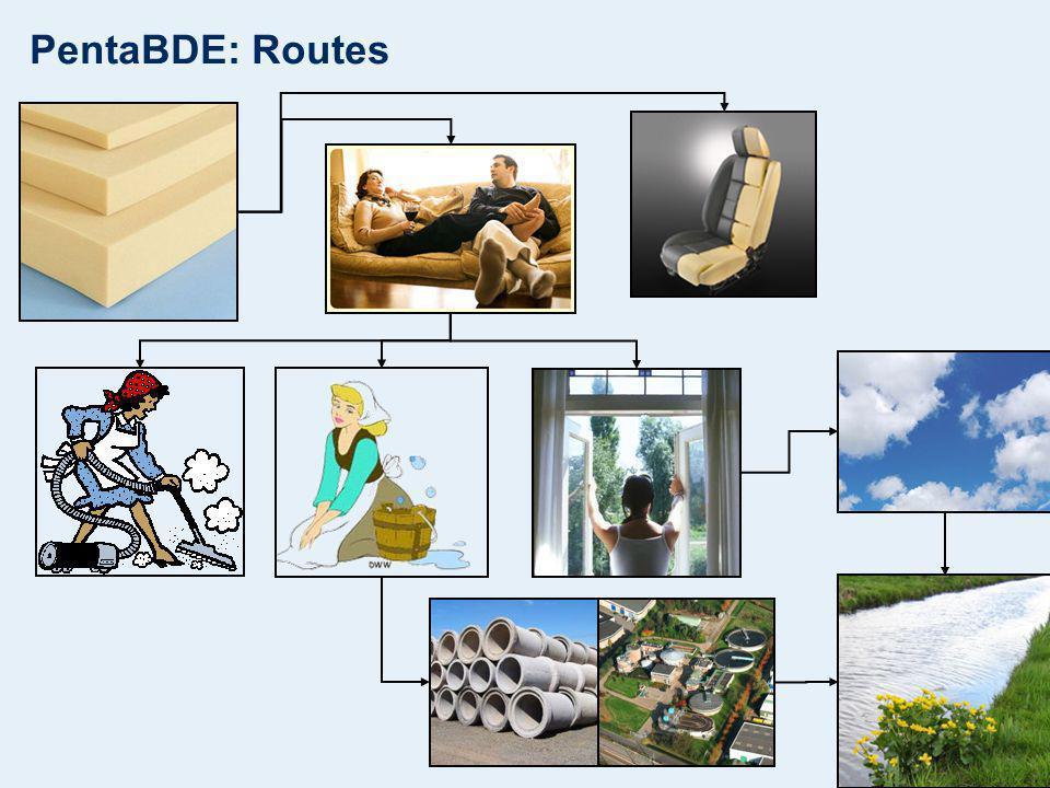 PentaBDE: Routes
