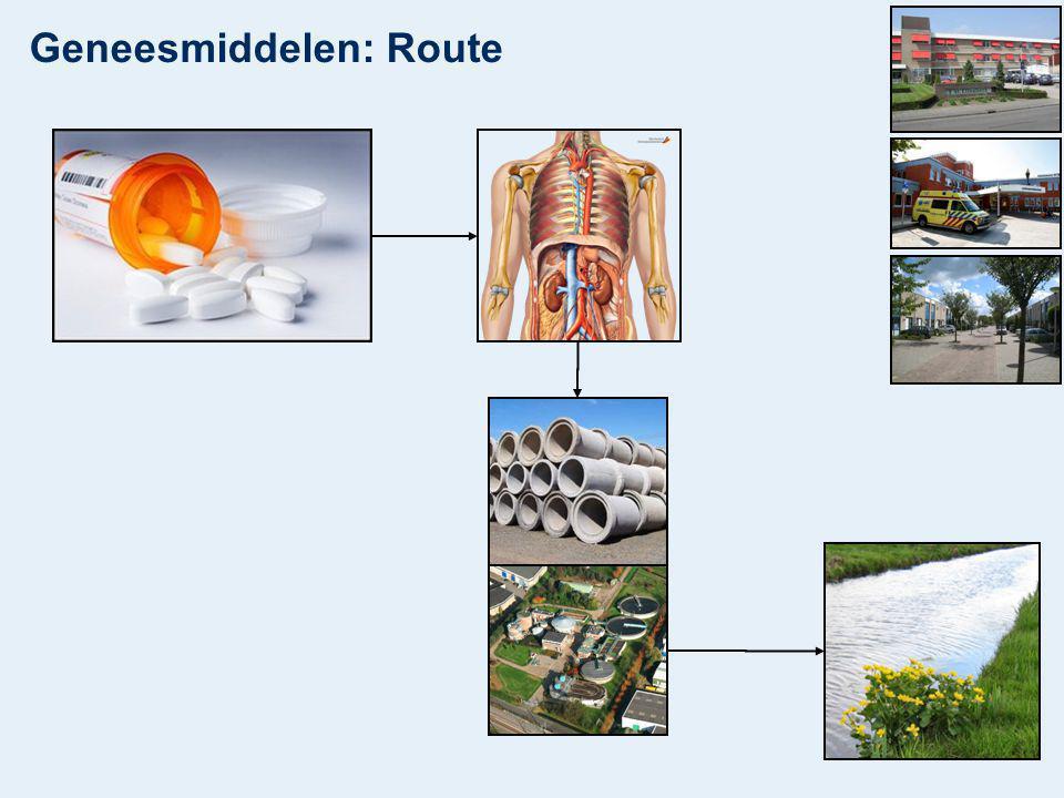 Geneesmiddelen: Route
