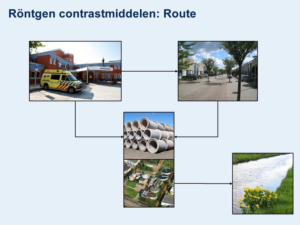 Röntgen contrastmiddelen: Route