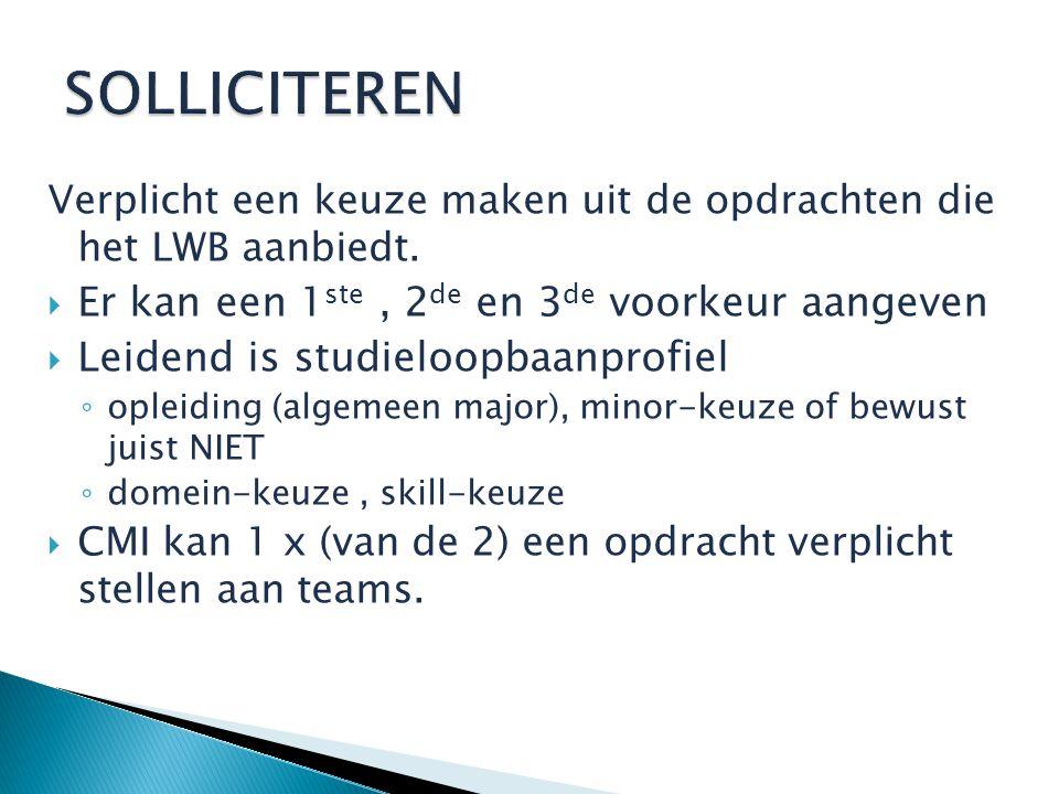 Verplicht een keuze maken uit de opdrachten die het LWB aanbiedt.